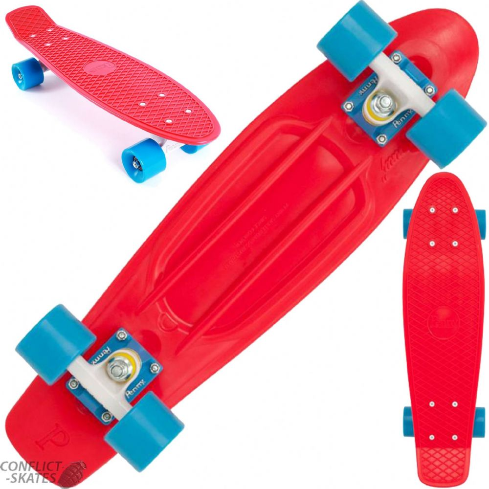 Penny Classic Red 1970s Style Plastic 22 Skateboard